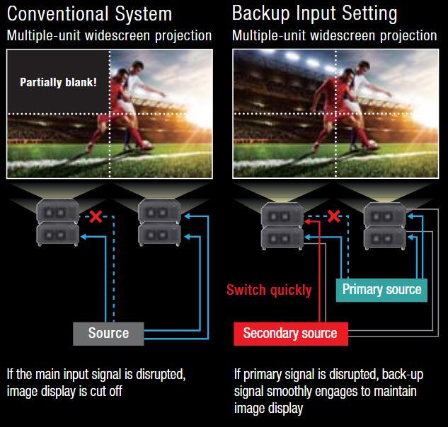 Backup Input Guarantees Picture Display